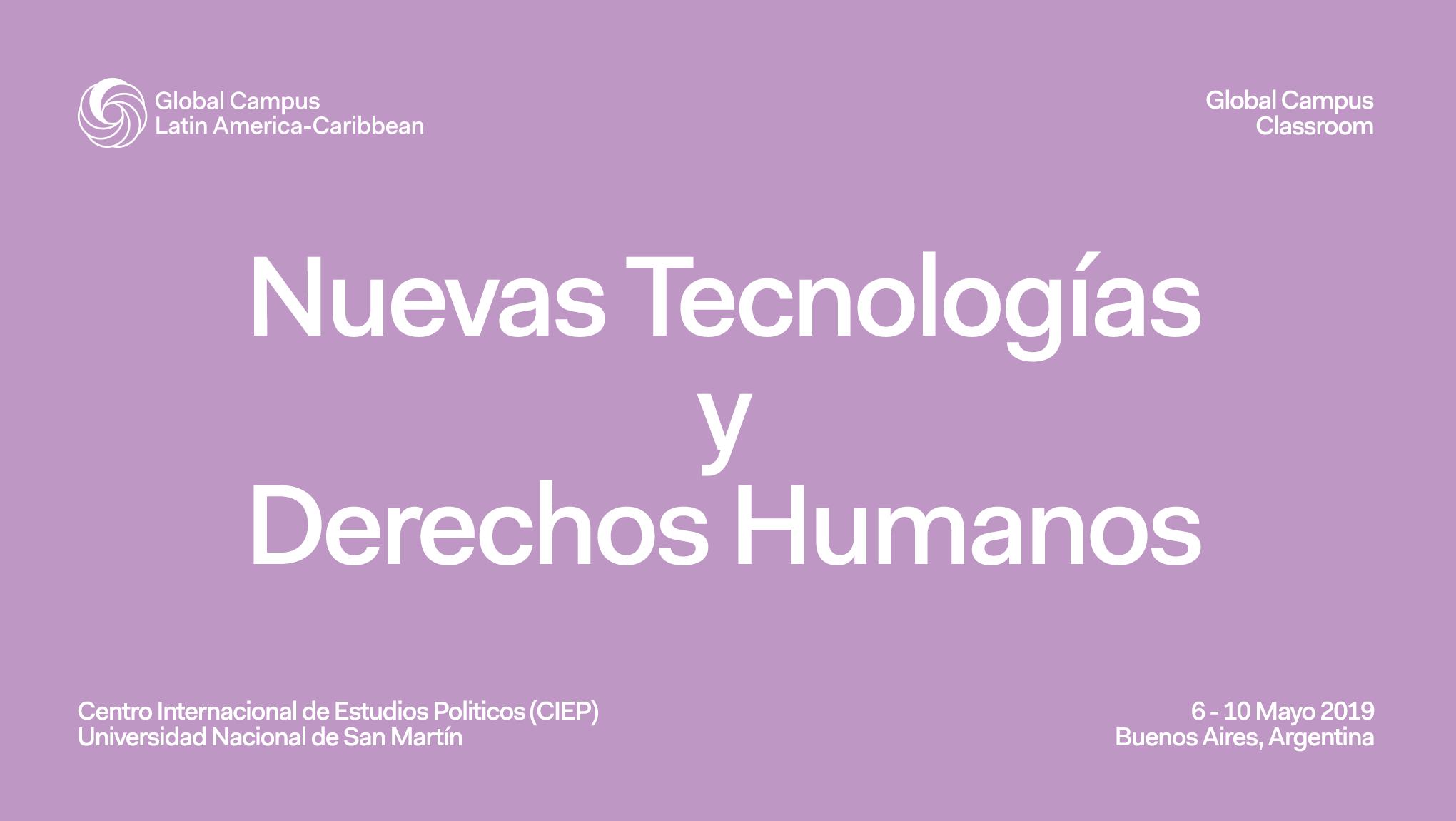 """Global Classroom 2019 sobre """"Nuevas Tecnologías y Derechos Humanos"""""""