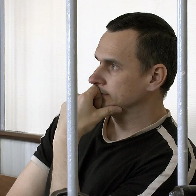 Il regista Askold Kurov alla Mostra del Cinema di Venezia per la liberazione del Premio Sakharov Oleg Sentsov