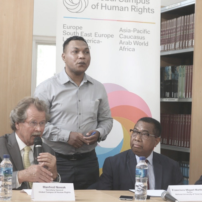 Speech of Manfred Nowak at the Inauguration of the Human Rights Centre at the National University of Timor Leste Dili